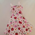 Barbie doll clothes - strawberry print dress