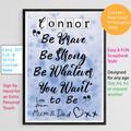 Instant Download, Teenagers Bedroom, Custom Printable, Motivational Quote
