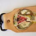 leather snake design bag tag / keyring