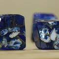 Gemstone soap x2 / Dark blue and crystal pink