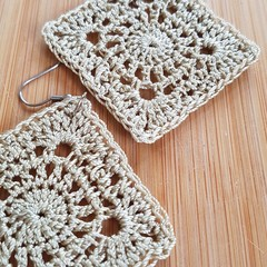 Fancy Granny Crochet Earrings