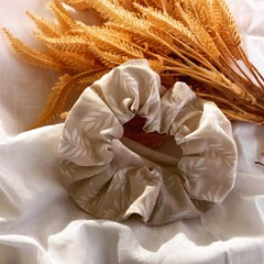 White Leaf Scrunchie