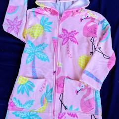Flamingo Swim Robe with Waterproof Back Size 4