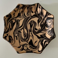 Marbled Leather octagonal tray