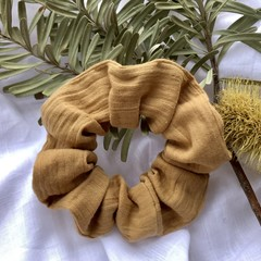 Light yellow mustard scrunchie