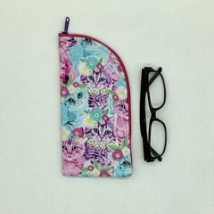 Bright Kittens Zipper Pouch/Glasses Case