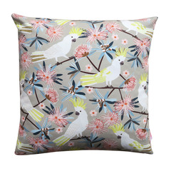 Australian Flora & Fauna / Sulphur Crested Cockatoos - Cushion Cover