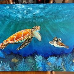 Sea Turtles Painting