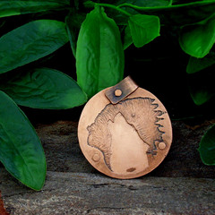 Copper Pendant Indian/Wolf
