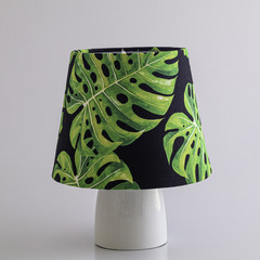 Bright Green Monstera Lamp Shade  – 19cm