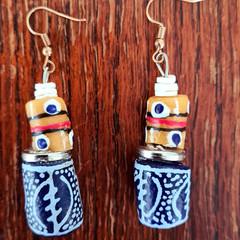 African trade beads earrings