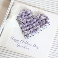 Mother's Day Card, Personalised,  Purple Roses Heart, Mum, Oma, Nanna, Nanny