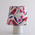 Crimson Rosella on White Background Lamp Shade