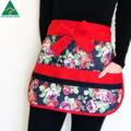 Teacher Apron Roses Six pockets FREE Tracked POST!