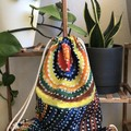 Indigenous pattern,unique drawstring backpack