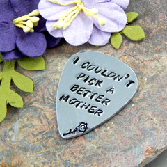 Hand Stamped Guitar Pick for Mother,Hand Stamped Guitar Pick,Gift For Mum