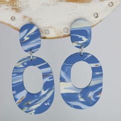 Denim Blue Ovals