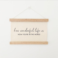 How Wonderful Wooden Wall Banner