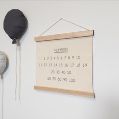 Numbers wall hanging