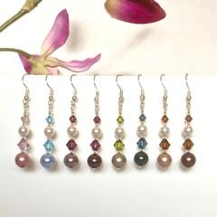 Swarovski Pearl / Crystal Earrings: Lana
