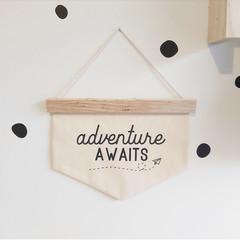 Adventure Awaits wall banner