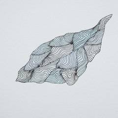 Flowing River Leaf (Blank Card)