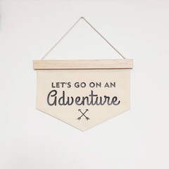 Let's go on an Adventure wall banner