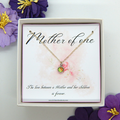 Mother of One Birthstone Necklace, choose your birthstone