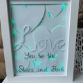 Personalised Light up Shadow box - 15cm x 20cm