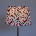 Crimson Rosella on White Background Lamp Shade – 38cm