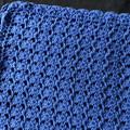 Baby Blanket Hand Crochet Royal Blue