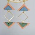 Blush Triangles with Gold Embellishment