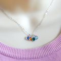 Mother of Four Birthstone Necklace, choose your birthstones