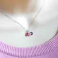 Mother of Three Birthstone Necklace, choose your birthstones