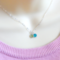 Mother of Two Birthstone Necklace, choose your birthstones