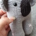Handmade Crochet Koala Soft Toy, Baby Koala Amigurumi, Stuffed Koala
