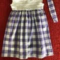 Purple Gingham Dress with matching headband