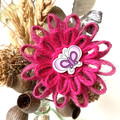 Gift Boxed Bloom Rustic Decoration Keepsake Flower Button Butterfly Pink