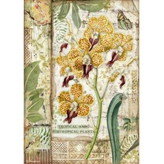 Rice Paper - Decoupage - 1 x A4 Size Sheet - Orchid