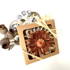 Gift Boxed Bloom Rustic Natural Decoration Keepsake Flower Button