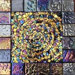 Smalti mosaic. Wall art.