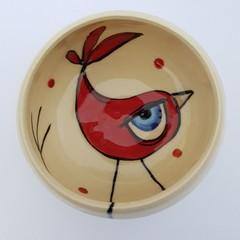 Unique Long legged Bird bowl snack