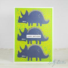 Stegosaurus Birthday Card, Dinosaur Birthday Card