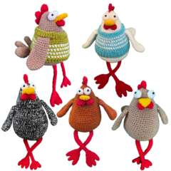 Free range chickens - from the Red George cuddle crew