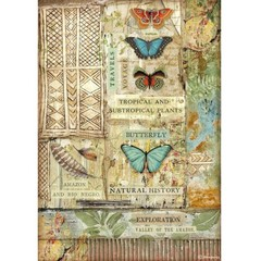 Rice Paper - Decoupage - 1 x A4 Size Sheet - Amazon Butterflies