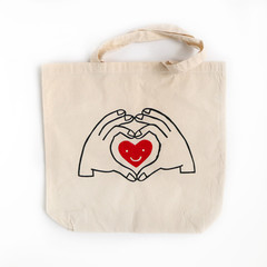Shopping Tote - Hand and Heart