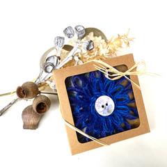 Gift Boxed Bloom Rustic Decoration Keepsake Flower Lavender Button Blue
