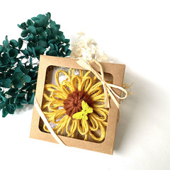 Gift Boxed Bloom Rustic Decoration Keepsake Flower Natural Yellow Butterfly