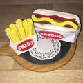 Felt food hot dog and fries play food set