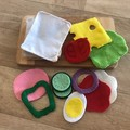 Felt sandwich with the lot pretend play food set